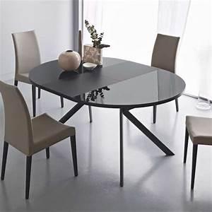 Table De Cuisine Extensible : table ronde extensible en verre giove 4 ~ Teatrodelosmanantiales.com Idées de Décoration