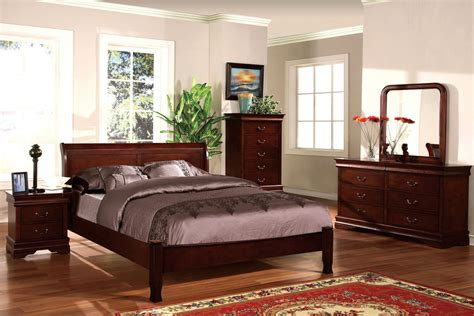 Bedroom Sets Cherry Wood by Beds Cherry Wood Bedroom Suite Cm 7825lch