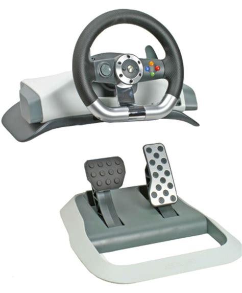Xbox 360 Steering Wheel by Genuine Microsoft Xbox 360 Wireless Feedback Racing