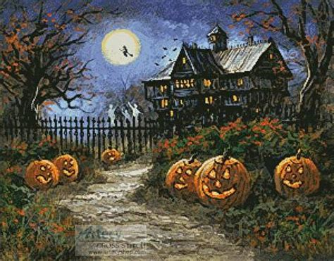spooky halloween cross stitch pattern halloween