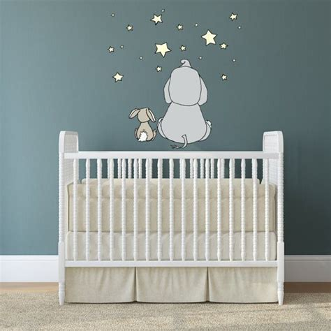 Wandtattoo Kinderzimmer Elefant by Wall Decal Elephant And Bunny Make A Wish Nursery
