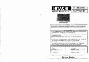 Hitachi Cmp307xu Plasma Display Repair Manual