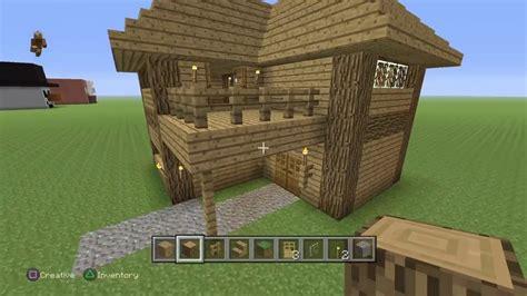 minecraft tutorial   build   story oak house youtube