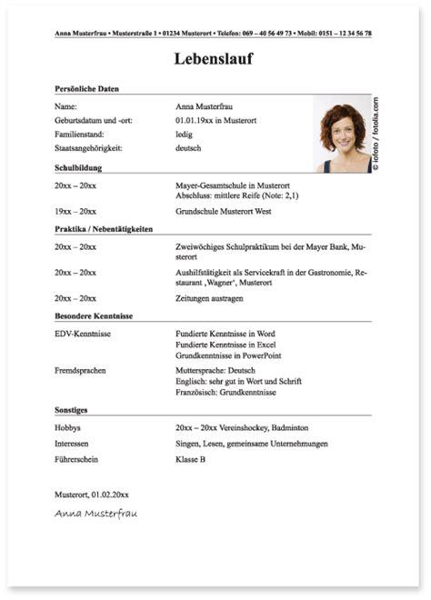 Lebenslauf Muster Ausbildung by Handgeschriebener Lebenslauf Vorlage Fabelhaft Ra Dr