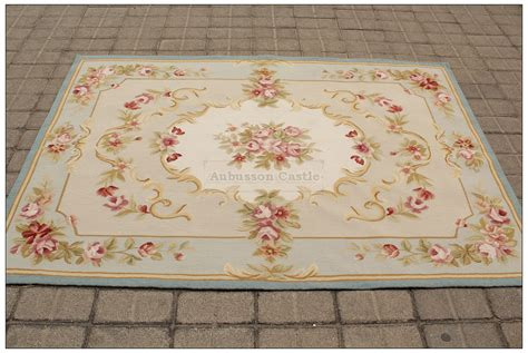 pink shabby chic rug blue ivory w pink rose aubusson area rug free ship wool woven shabby french chic ebay