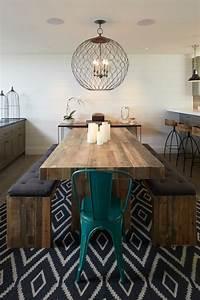 Chandelier De Table : salvaged wood dining table contemporary dining room artistic designs for living ~ Melissatoandfro.com Idées de Décoration