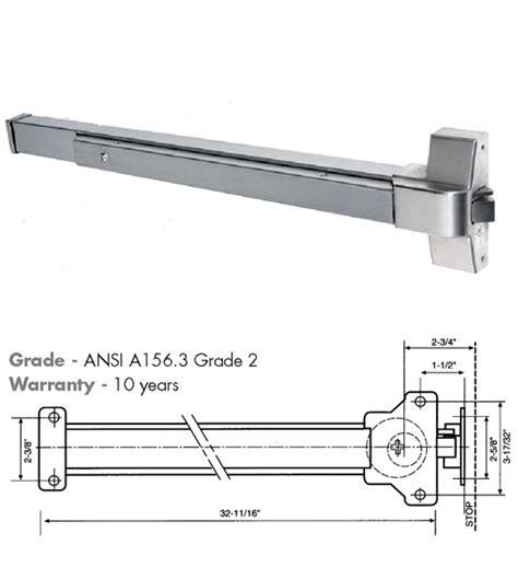 push bar door lock mechanism 30 to 36 inch wide door touch bar exit device