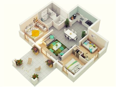 best floor for laundry room 7 best 3 bedroom house plans in 3d you can copy