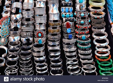 Display Of Jewellery On A Market Stall, Anjuna Market, Goa, India Stock Photo Jewelry Set Tone Jewellery New Model On Jumia Vivaldi Price Christian From Israel Set.com Saudi Gold Craftsvilla