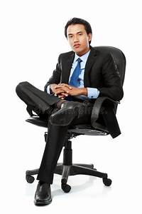 Business Man Sits On Office Chair Stock Images - Image ...