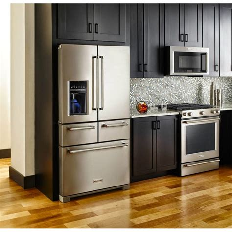 kitchenaid krmfess  door design platinum interior