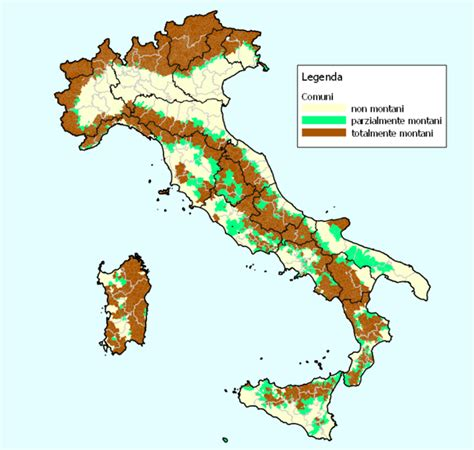 cartina geografica italia zone collinari tomveelers