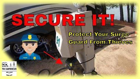 protector surge rv lock secure pedestal power