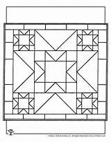 Coloring Quilt Crafts Printable Patterns Alphabet Worksheets sketch template