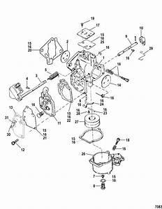 Mercury Marine 25 Hp  25 Seapro  Super 15  2 Cylinder  Carburetor  Seapro    Marathon 15    25