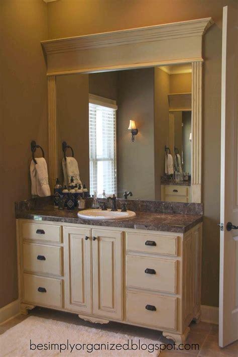 bathroom mirror ideas way to frame a bathroom mirror bathroom ideas