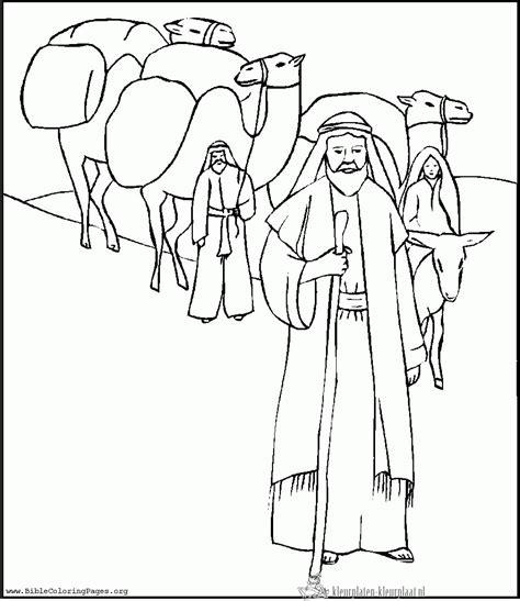 Kleurplaat Abraham Op Reis by Bijbel In 1000 Seconden 2e Zondag De