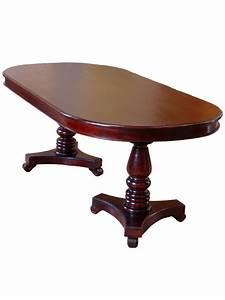 Table De Salle A Manger Ovale : table ovale de salle manger en acajou style empire frmigny ~ Teatrodelosmanantiales.com Idées de Décoration