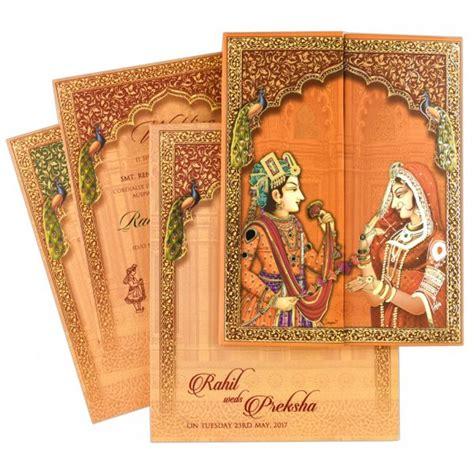 peacock wedding invitation indian wedding card iwm