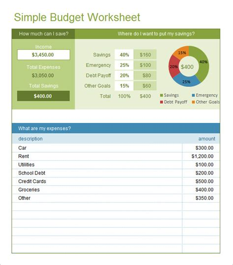 simple budget template excel excel budget template 25 free excel documents free premium templates