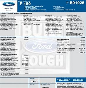 Just tell us your under invoice price paid page 209 for Ford f150 invoice cost