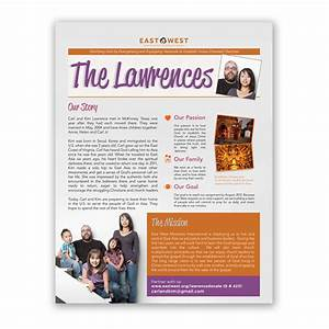 Newsletters professional design printing mailing for Missionary newsletter templates