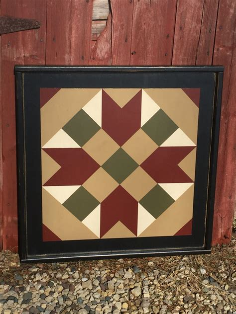 Painted Barn Quilts by Primitive Painted Barn Quilt Small Frame 2 X 2