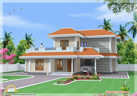 2 floor houses home design bedroom storey india house sqft kerala