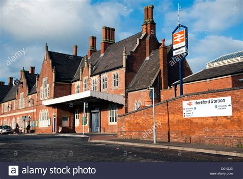 Hereford Railway Station, Uk The British Rail Station, An Old Red Stock Photo, Royalty Free