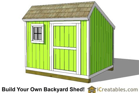 Saltbox Shed Plans 8x12 by Shed Plans How To Build A Shed Icreatables