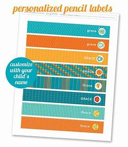 Free printable pencil labels for your kids kids for Crayon labels template