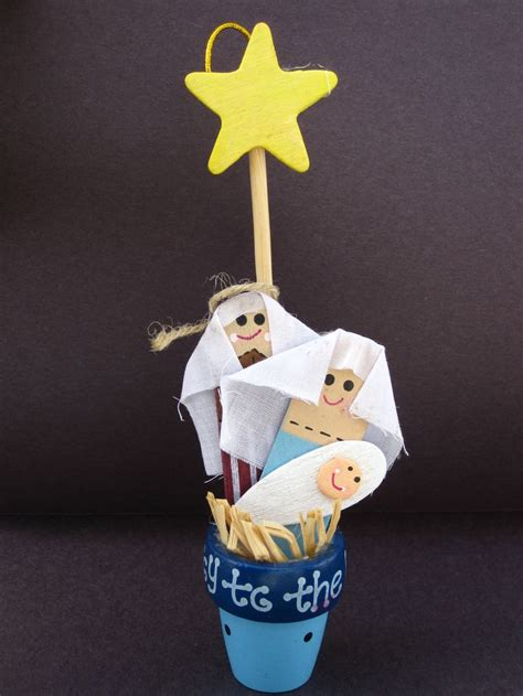 images  simple nativity crafts  kids