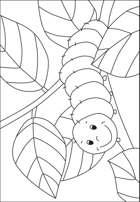 caterpillar coloring template for pre k and kindergarten