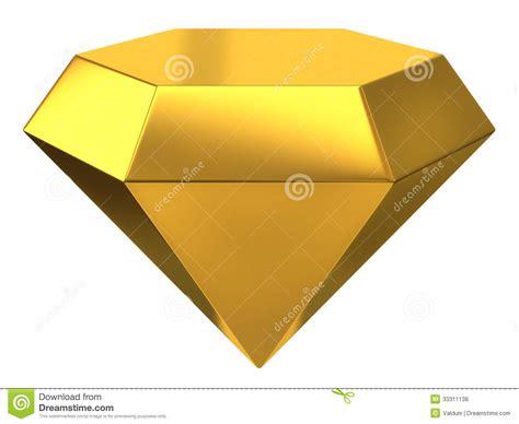 Illustration Of Gold Diamond Stock Illustration