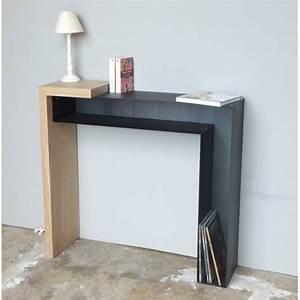 Console Entrée Design : console design bois et m tal konnect atelier mobibois ~ Premium-room.com Idées de Décoration