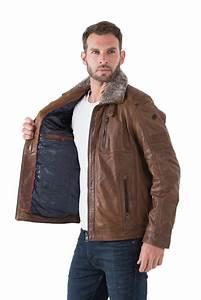 Blouson Col Fourrure Homme : veste cognac homme ralph veste en cuir d agneau cognac ~ Dode.kayakingforconservation.com Idées de Décoration