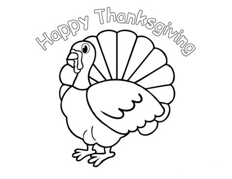 happy thanksgiving coloring pages    print