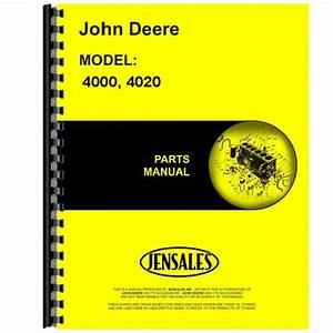 Parts Manual For John Deere 4020 Tractor  201000