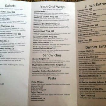 fresh kitchen menu fresh chef kitchen fast food cornelius nc yelp