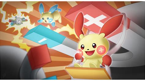 [pokemon Or/as Tribute] Plusle And Minun By Brex5 On