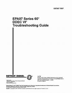 Detroit Diesel Epa07 Series 60 Troubleshooting Guide Pdf