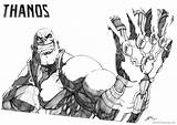 Thanos Coloring Pages Fan Printable Deviantart sketch template