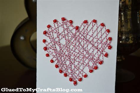 valentine string art decor
