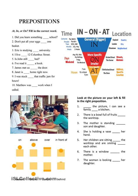Prepositions  Esl Powerpoints Of The Day  Pinterest  English, Worksheets And English Grammar