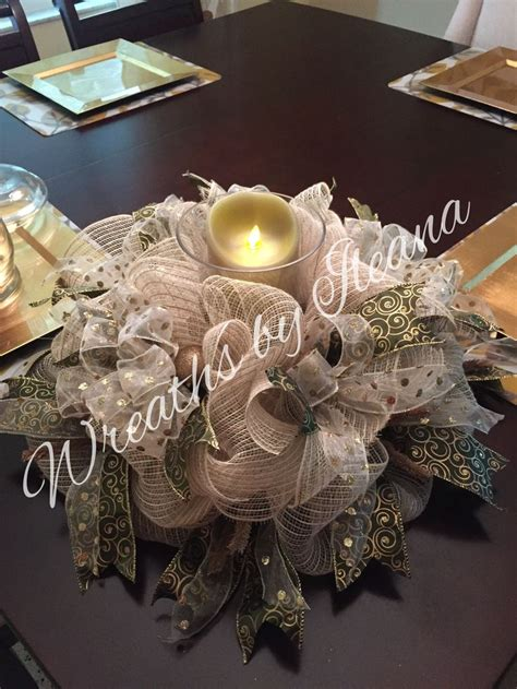 christmas table wreath centerpieces centerpiece or 18 quot door wreath deco mesh wreath wreaths by ileana https www