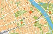 Warsaw Vector Maps. Illustrator, freehand, eps digital ...