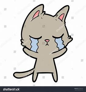 Crying Cartoon Cat Stock Vector 652303255 - Shutterstock