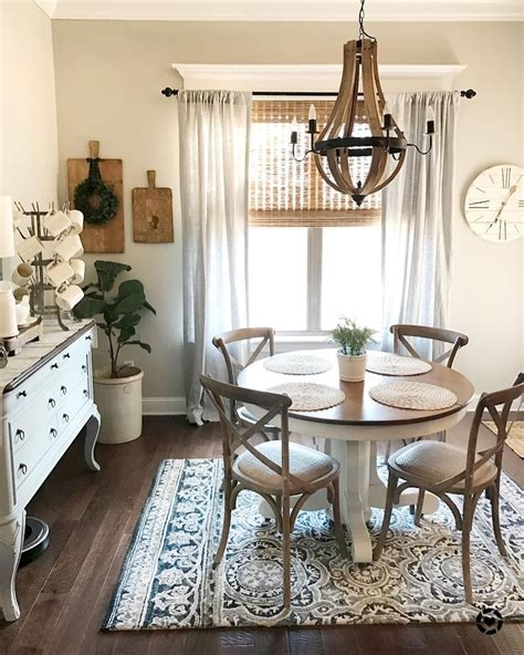 Why a beautiful home atmosphere is good for your mental health. 80+ Stunning Rustic Farmhouse Dining Room Set Furniture Ideas | Modern farmhouse dining room ...