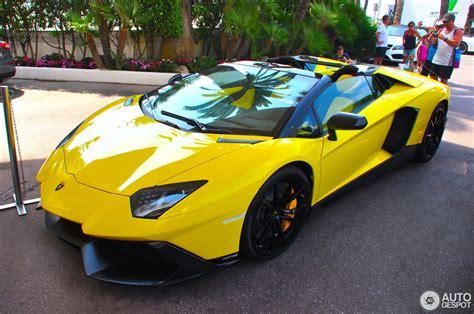 lamborghini aventador anniversario roadster lamborghini aventador lp720 4 roadster 50 176 anniversario 22 august 2014 autogespot
