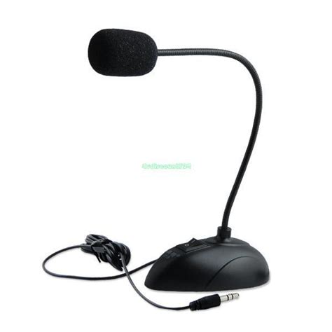 FLEXIBLE STAND MINI 3.5MM DESKTOP MICROPHONE MIC FOR